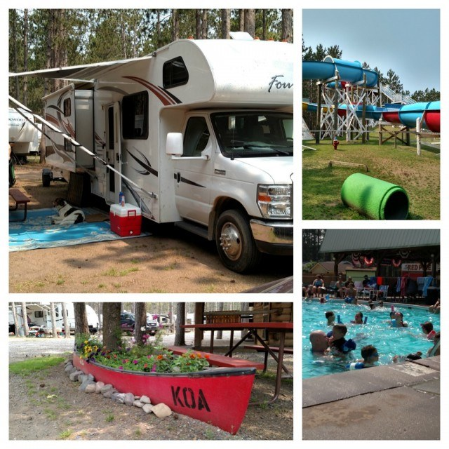 Hayward, Wisconsin KOA has 2 things we look for - a pool and a dog park. #goRVing