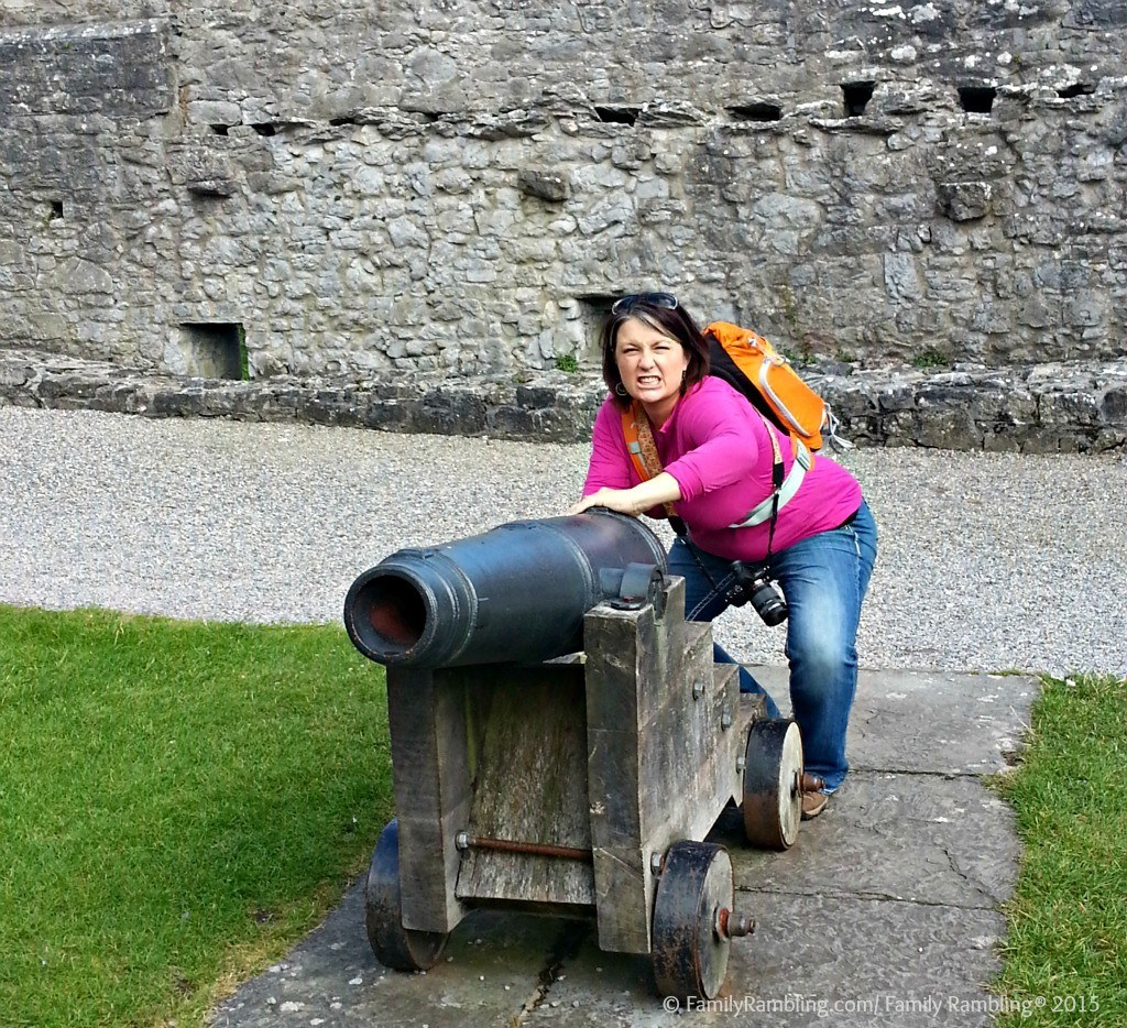 Manning the Cannon at Cahir Castle, County Tipperary, Ireland