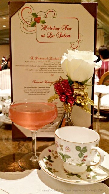 Holiday Tea at Windsor Court Hotel in New Orleans. New Orleans Christmas travel tips.