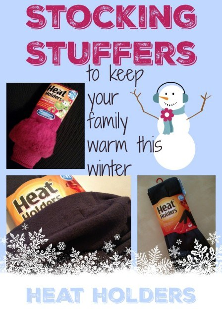 Stocking stuffers to help your family keep warm this winter. Heat Holders Thermal socks and leggings.