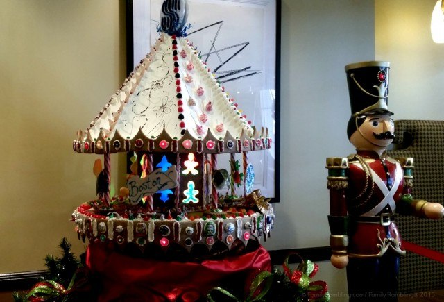 Gingerbread carousel at Royal Sonesta Hotel in New Orleans. New Orleans Christmas travel tips.