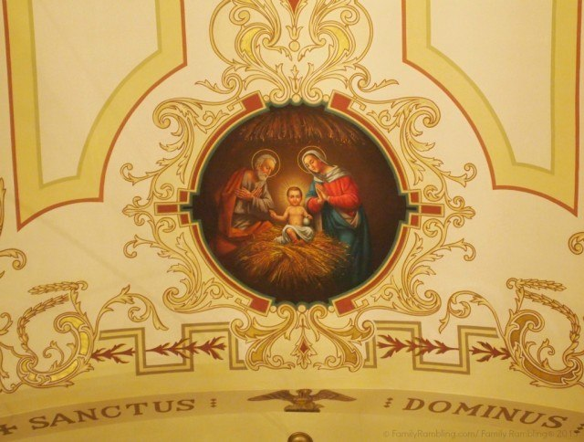 St. Louis Cathedral ceiling, New Orleans. New Orleans Christmas travel tips.
