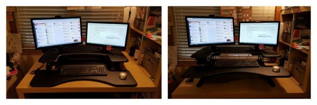 VariDesk Pro standing desk. Health hacks for busy people |Health hacks for work | FamilyRambling.com
