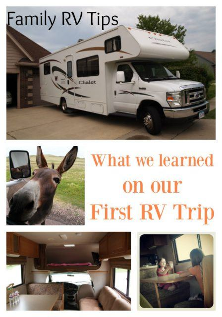 Family RV tips. RV tips for first timers.