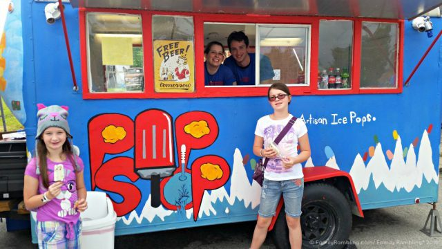 Local food truck at Homer Soda Fest. Midwest festivals | Midwest travel tips | FamilyRambling.com