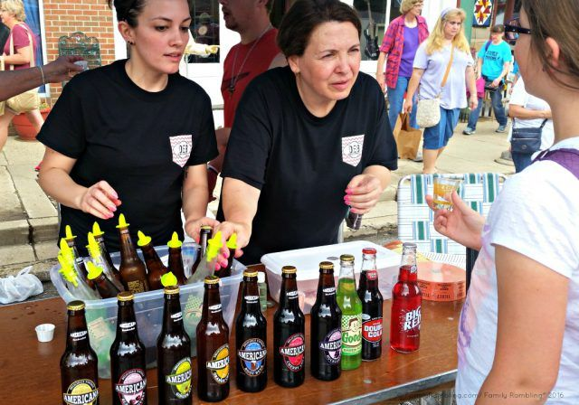 Soda tasting at Homer Soda Fest, Homer, IL. Midwest festivals | Midwest travel tips | FamilyRambling.com