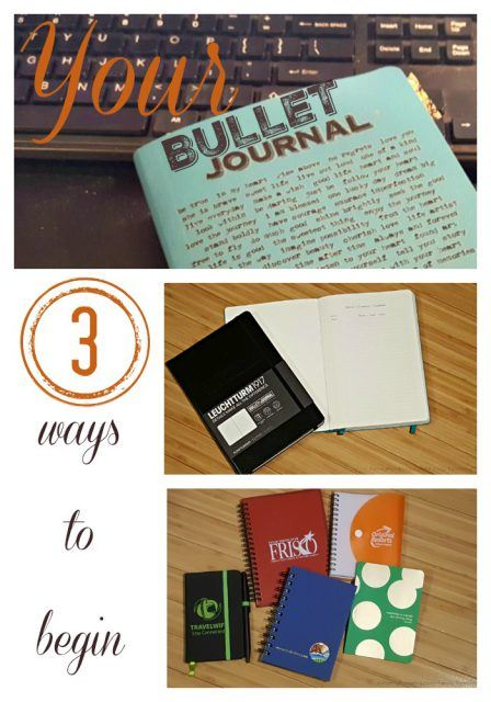3 ways to begin your Bullet Journal