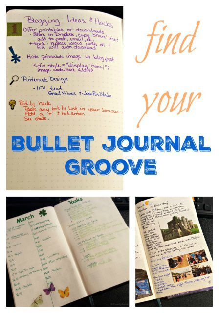 Find your Bullet Journal Groove. Bullet Journal tips.