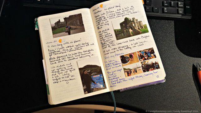 Bullet Journaling for vacation memories!