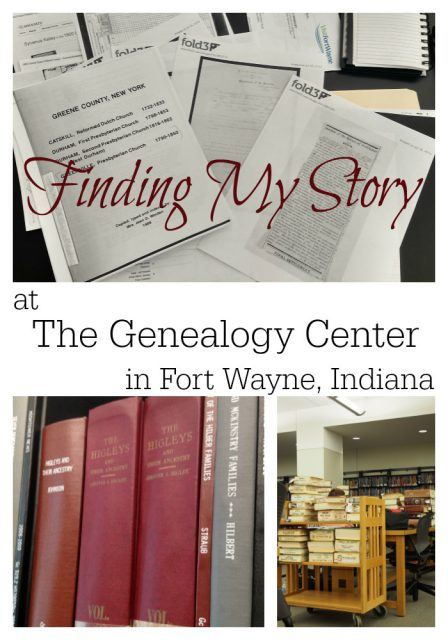 Finding My Story at The Genealogy Center in Fort Wayne, Indiana.