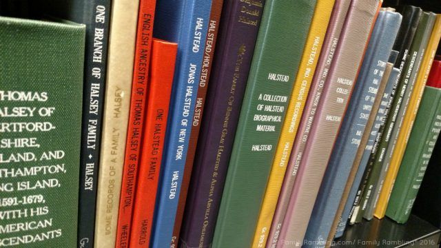 Loads of Halstead books found at The Genealogy Center in Fort Wayne, Indiana.