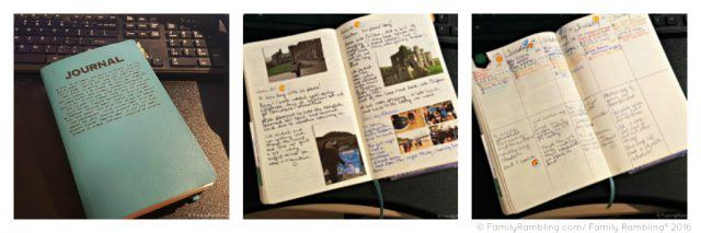 My first BuJo: a Moleskine notebook