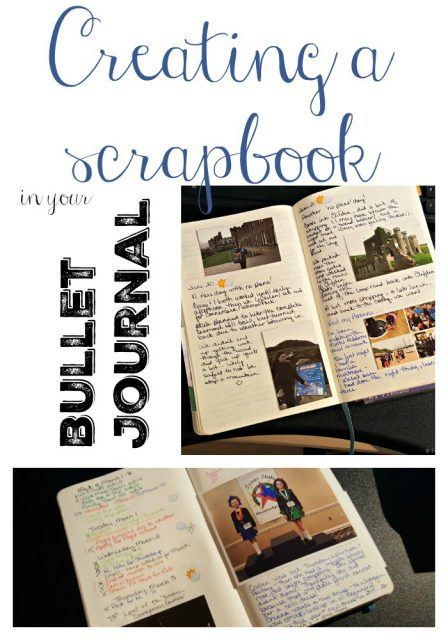 Scrapbook in your Bullet Journal