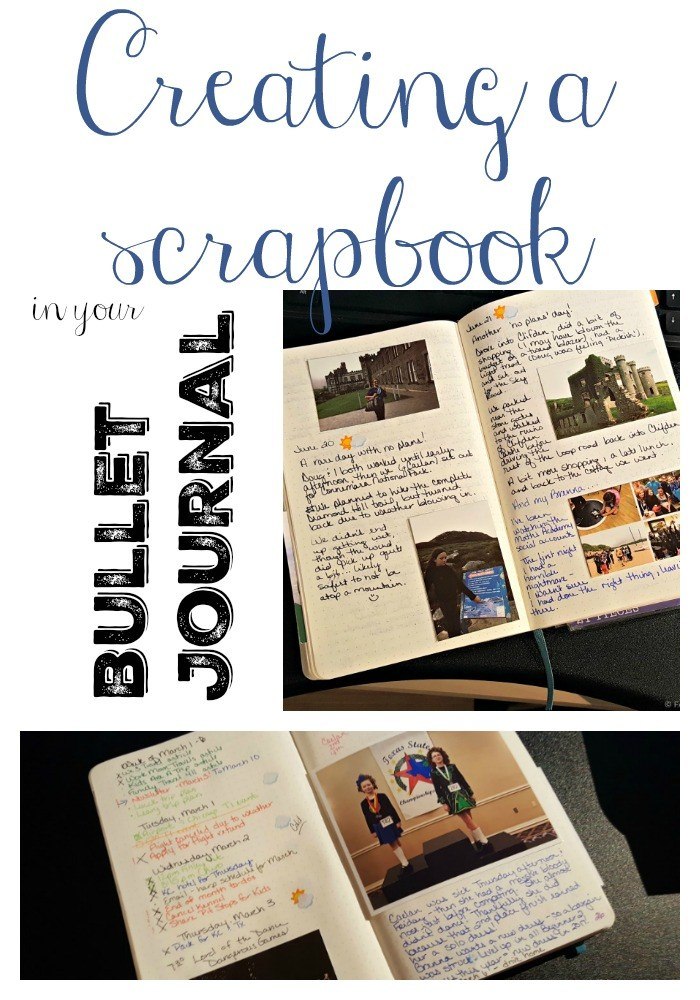 Scrapbook in your Bullet Journal