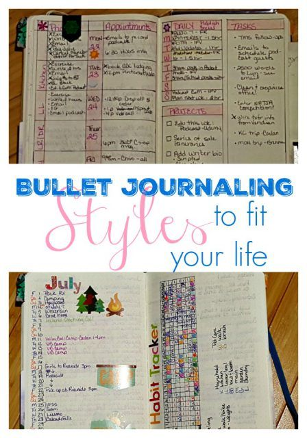 Bullet Journaling Styles to Fit Your Life