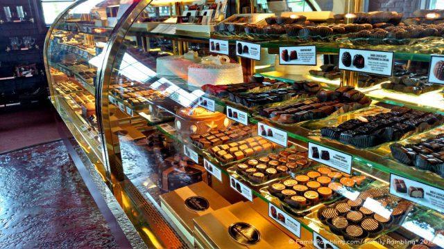 Large selection of handmade treats at DeBrand Chocolates