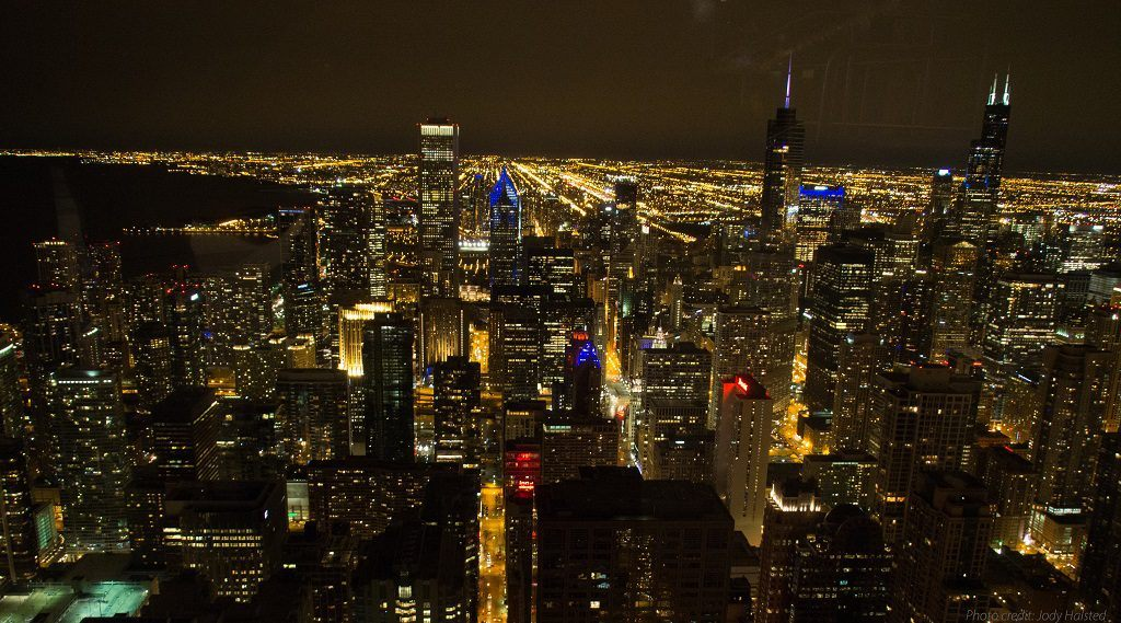 Chicago at Night from 360 Chicago . Photo by Jody Halsted, Halsted Enterprises, Inc.