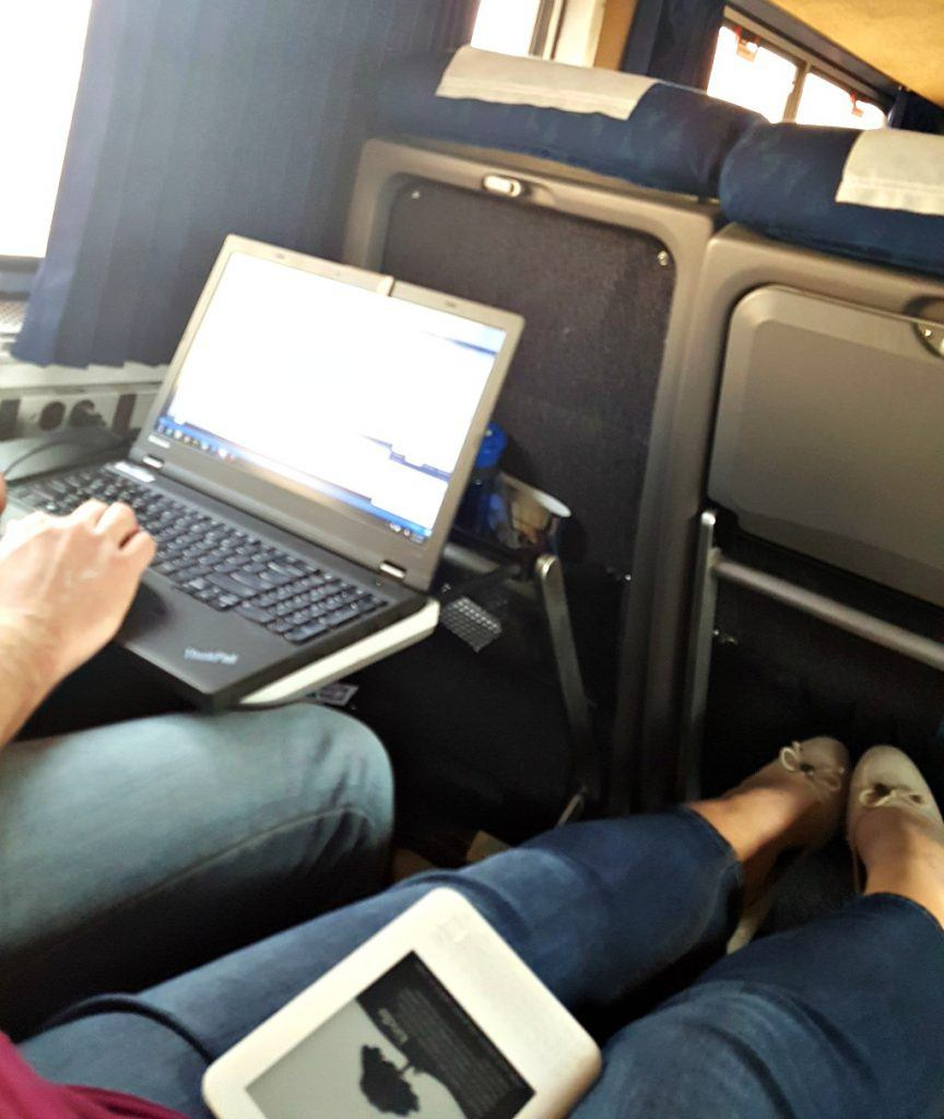 Roomy seats on Amtrak to Chicgo. Photo by Jody Halsted, Halsted Enterprises, Inc.