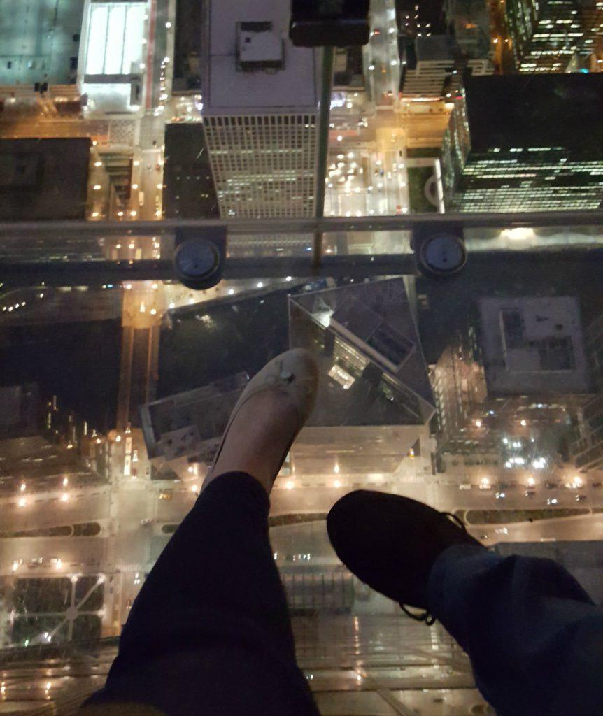 Willis Tower- The Ledge- 103 floors straight down. Photo by Jody Halsted, Halsted Enterprises, Inc.