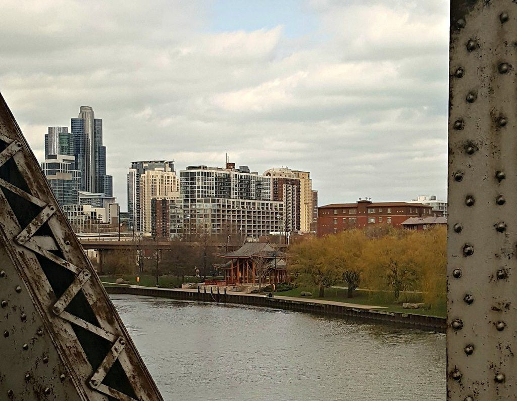 View of Chicago as Amtrak train arrives. Photo by Jody Halsted, Halsted Enterprises, Inc.