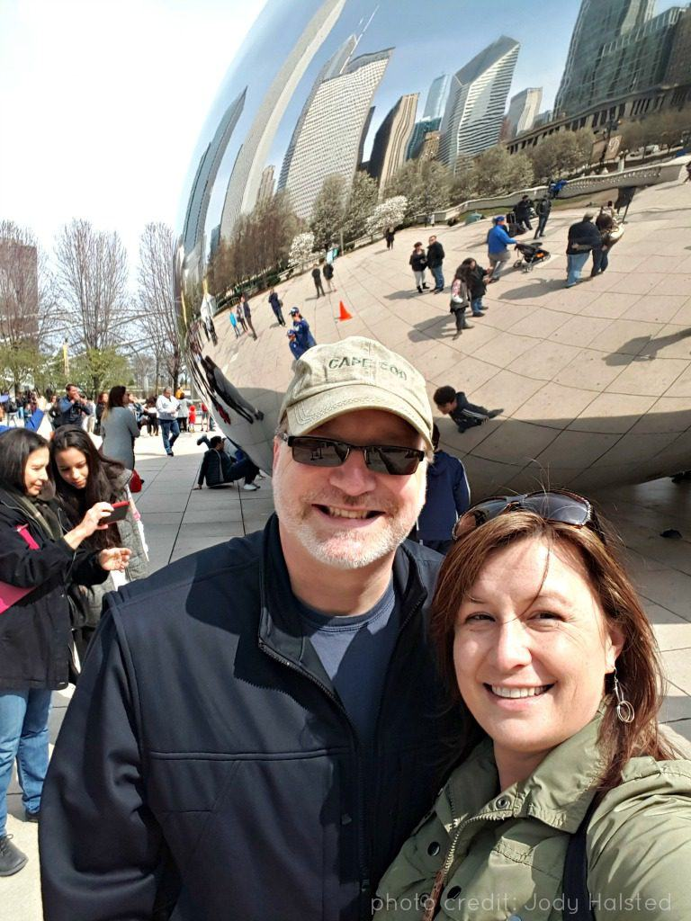 selfie at the Bean in Millennium Park, Chicago. Photo by Jody Halsted, Halsted Enterprises, Inc.