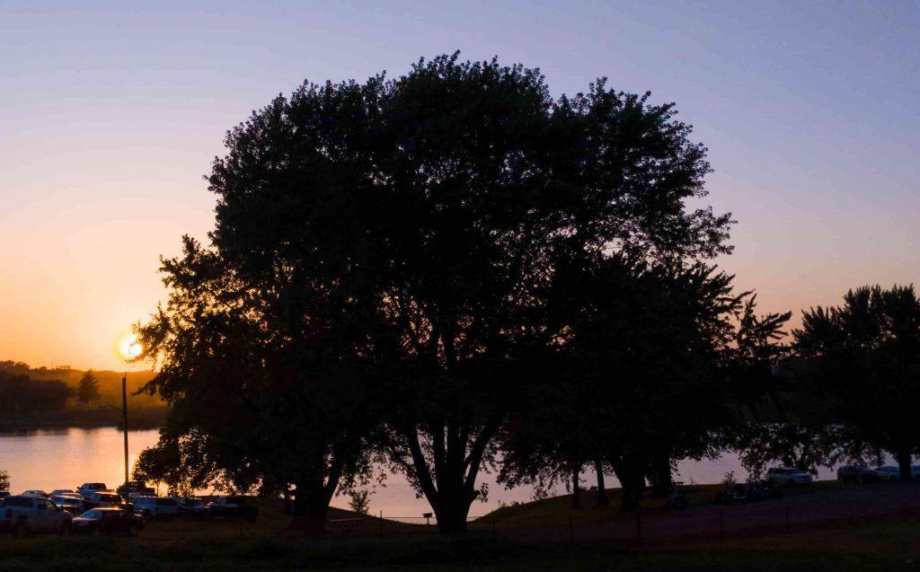 Sunset at Warnock Lake, Atchison, Kansas