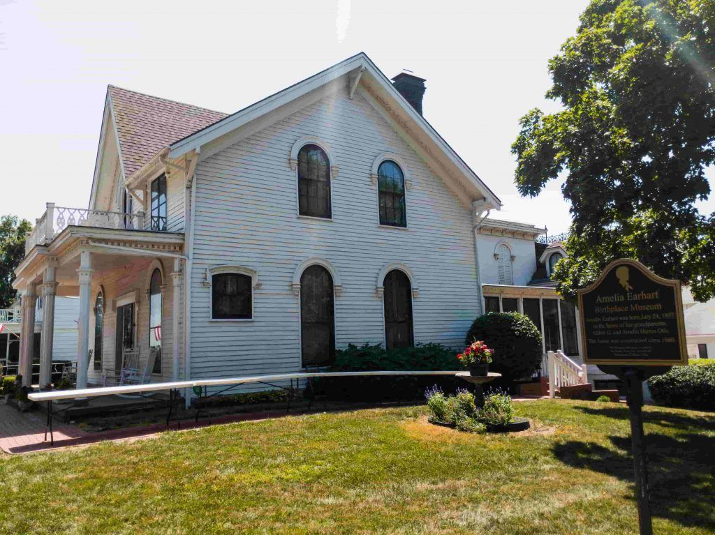 the Amelia Earhart Birthplace Museum, Atchison, Kansas