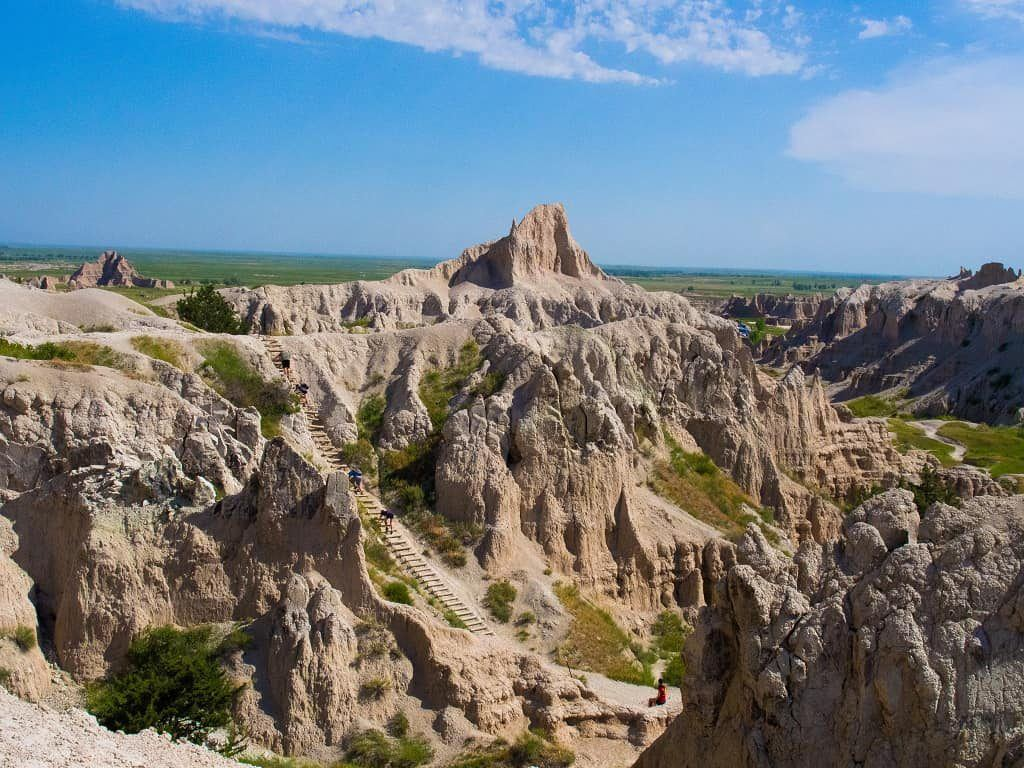 Notch Trail in Badlands National Park, South Dakota