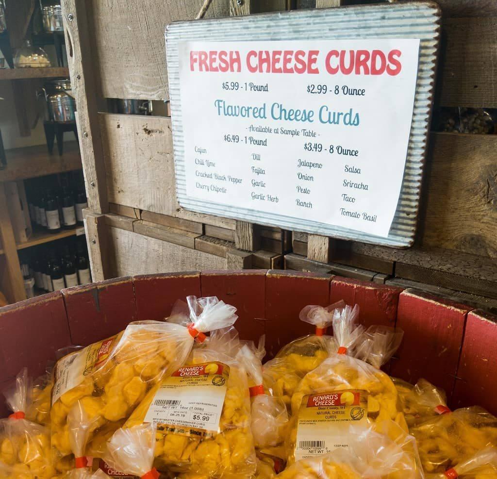Cheese curds at Renard's, Door County, Wisconsin