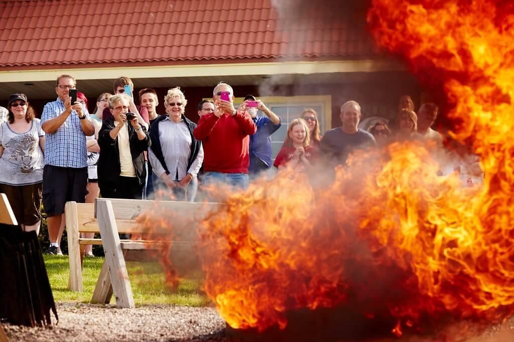 Rowleys Bay Boil Over- photo credit Door County Visitor Bureau