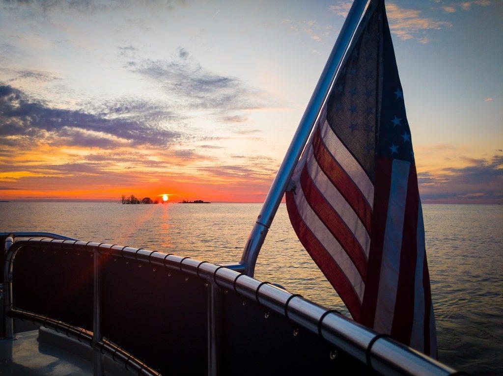 sunset on Lake Michigan. Door County, Wisconsin