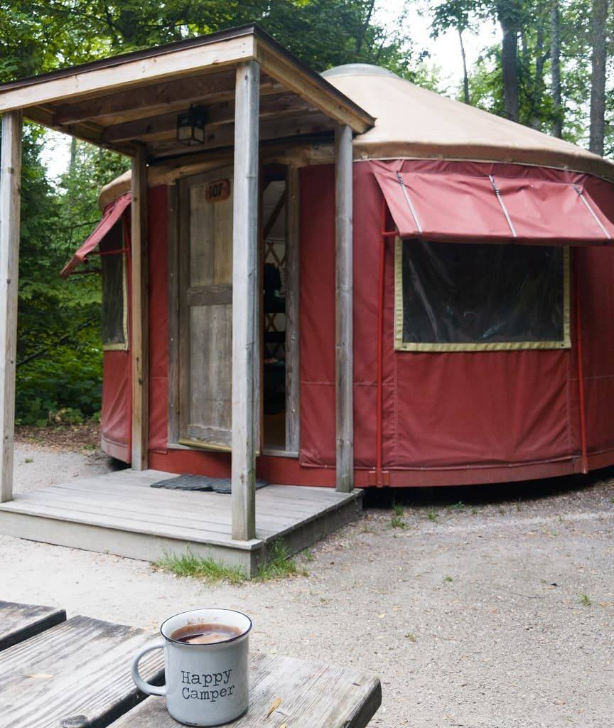 camping yurt- Wagon Trail Campground, Door County, Wisconsin