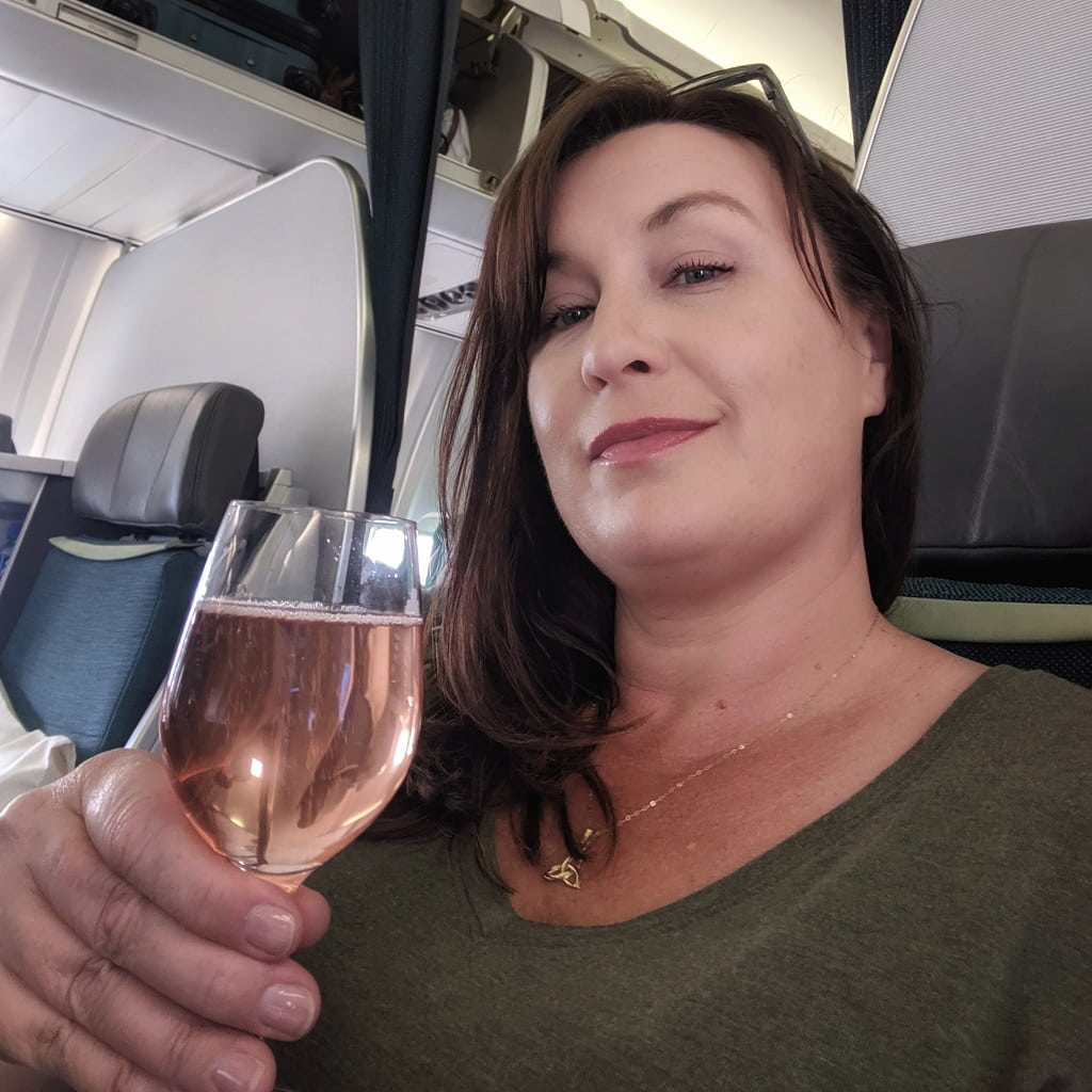 Welcome drink on Aer Lingus Business Class