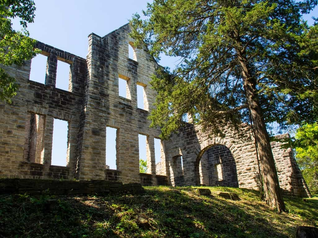 castle ruins_Ha Ha Tonka State Park_Lake of the Ozarks_Missouri