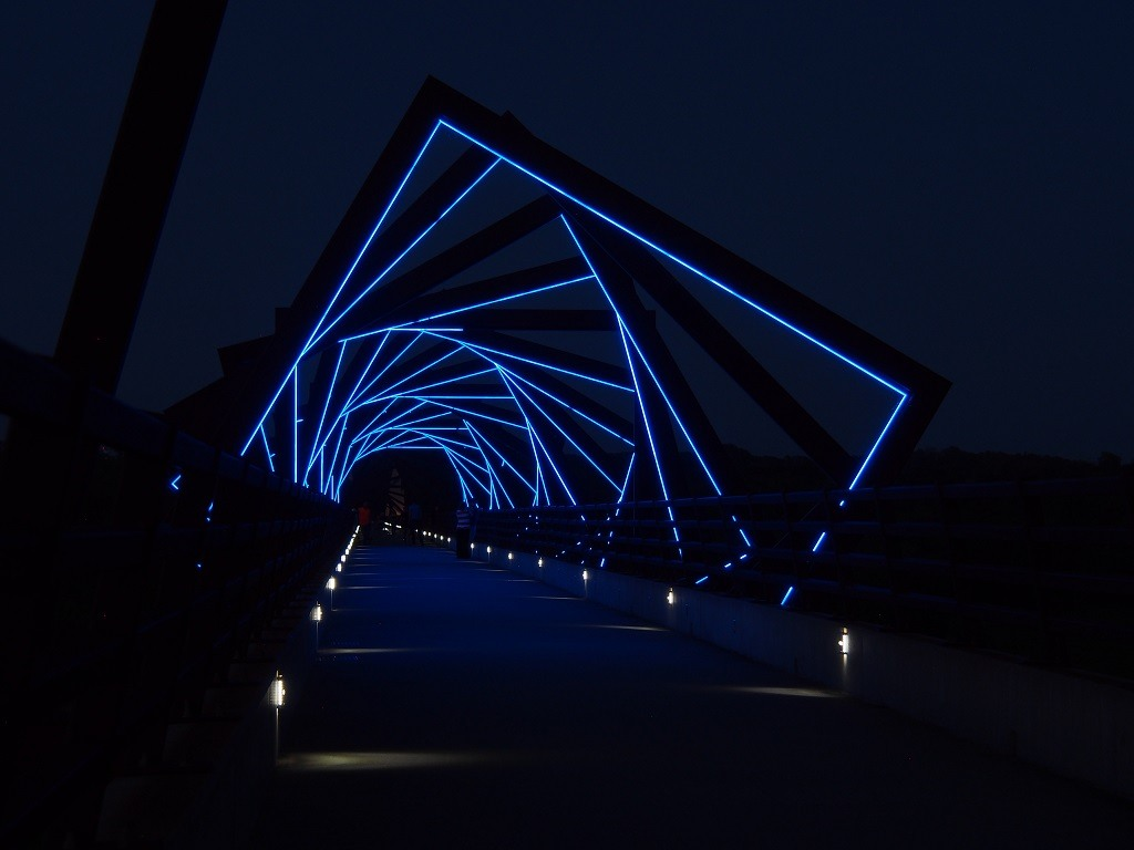High Trestle Trail Bridge at Night, Madrid, Iowa