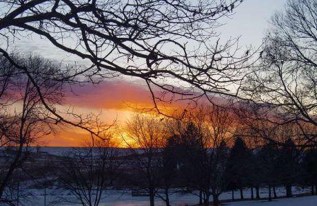 Sunset Thomas Mitchell Park Polk County IA