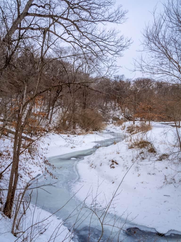 Thomas Mitchell Park Polk County IA winter river