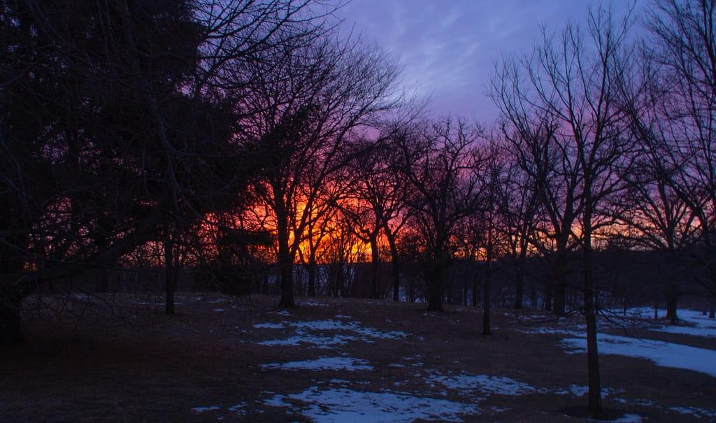 sunrise Thomas Mitchell Park Polk County IA