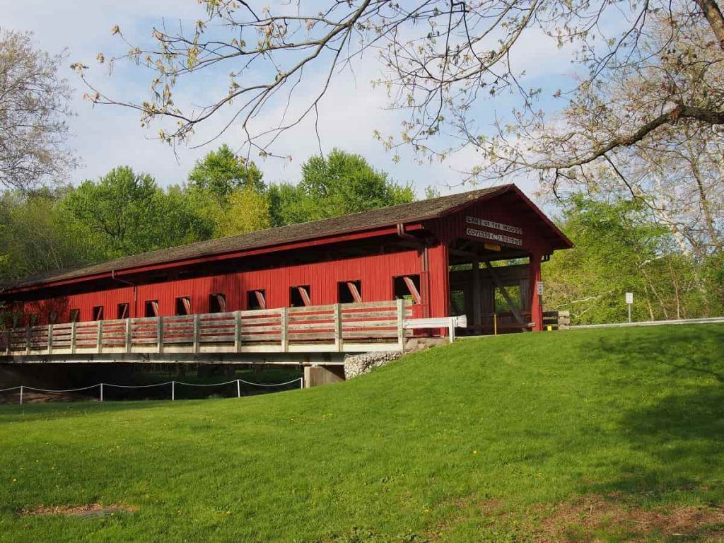 covered bridge, Lake of the Woods, Champaign, IL