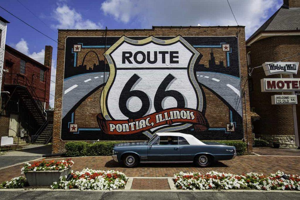 Route 66 mural, Pontiac, IL