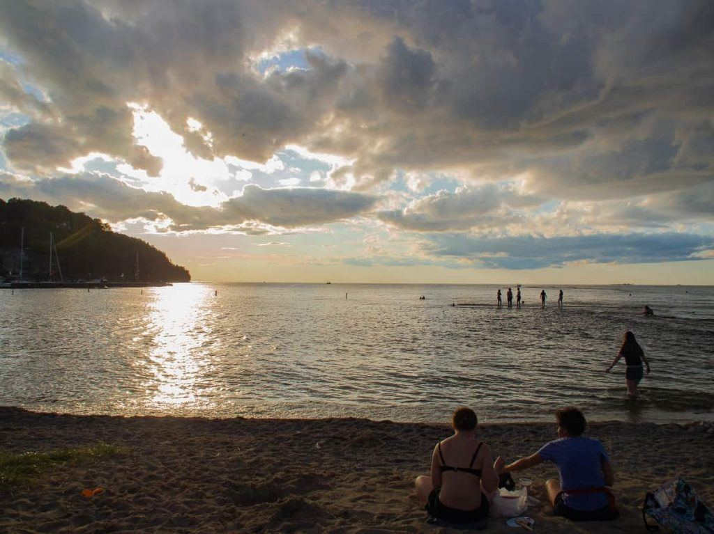 evening_sunset_Waterfront_Park_Beach_Sister_Bay_Wisconsin