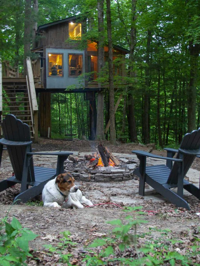 Treehouse Glamping at The Mohicans in Ohio